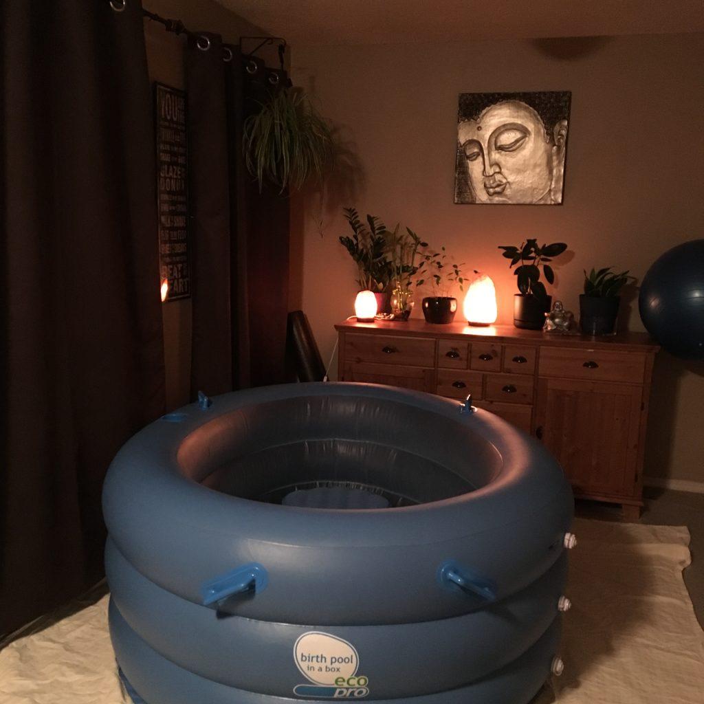 Natural Home Birth at 42 Weeks - Birth Pool & Birth Setting